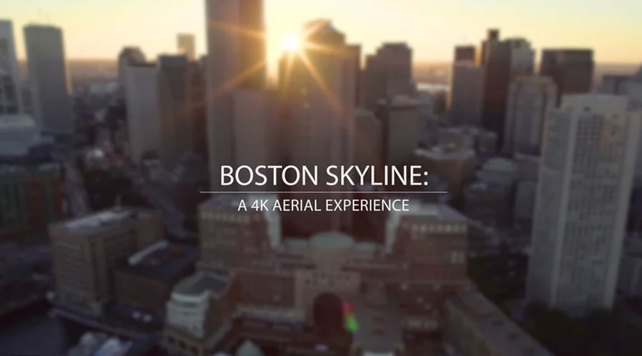 Boston Skyline: A 4K Aerial Experience