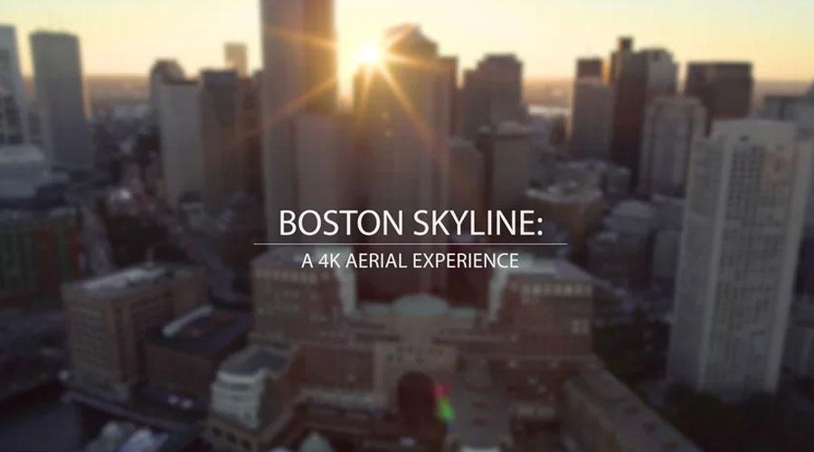 Boston Skyline: A 4K Aerial Experience